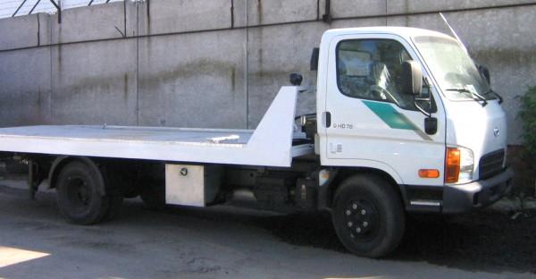 Hyundai HD-78  с гидравлической платформой