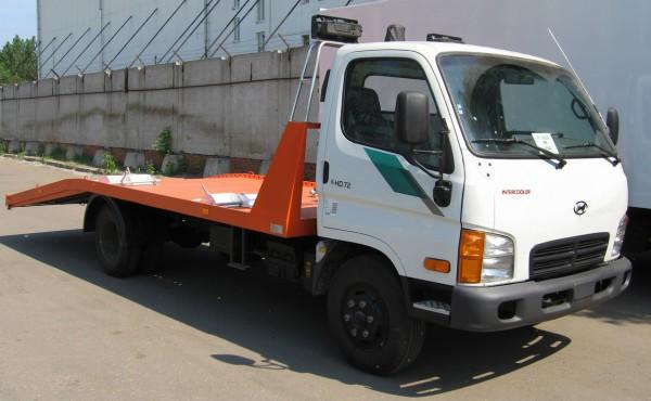 Hyundai HD-72  с гидравлической платформой